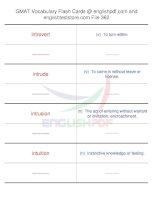 GMAT vocabulary flash cards362