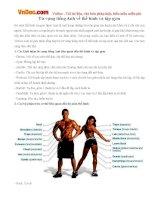 Từ vựng tiếng Anh về thể hình và tập gym