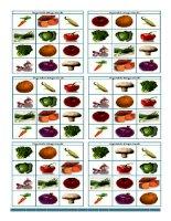 12388 vegetable bingo flashcards