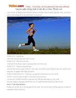 Luyện nghe tiếng Anh trình độ cơ bản: Work out