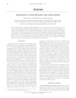 Optimization of Chitin Extraction from Shrimp Shells