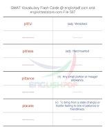 GMAT vocabulary flash cards507