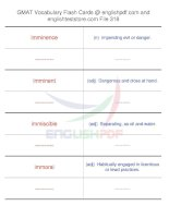 GMAT vocabulary flash cards318