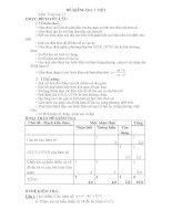Ma trận đề kiểm tra toán lớp 12
