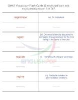 GMAT vocabulary flash cards567