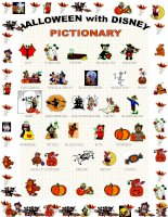 1978 halloween pictionary with disney characters