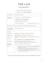 talkalot intermediate book 1 imperative form