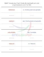 GMAT vocabulary flash cards563