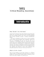 501 critical reading questions p1