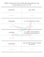 GMAT vocabulary flash cards146