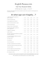 at what age can i legally in the UK quiz