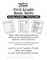 1st grade basic skills reading and math thinking skills