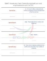 GMAT vocabulary flash cards74