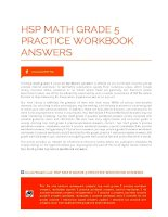 hsp math grade 5 practice workbook answers