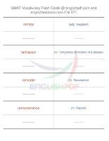GMAT vocabulary flash cards571