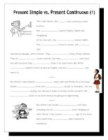 10758 nofrills worksheet for all ages present simple vs present continuous 1