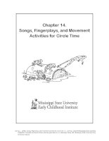 Songs, Fingerplays, and Movement Activities for Circle Time