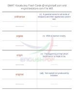 GMAT vocabulary flash cards465