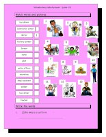 3741 vocabulary matching worksheet  jobs 1