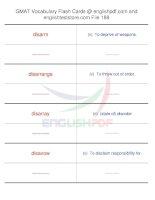 GMAT vocabulary flash cards188