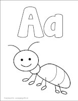 Alphabet coloring pages4k