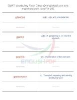 GMAT vocabulary flash cards283