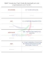 GMAT vocabulary flash cards231