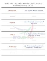 GMAT vocabulary flash cards103