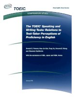The TOEIC speaking and writing tests relations to test   ETS