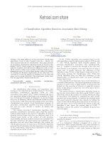 A CLASSIFICATION ALGORITHM BASED ON ASSOCIATION RULE MINING