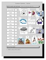 4000 vocabulary matching worksheet  weather