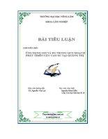 CHUYÊN đề ỨNG DỤNG GIS và RS TRONG QUY HOẠCH PHÁT TRIỂN cây CAO SU tại QUẢNG TRỊ