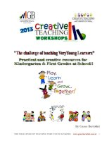 the challenge of teaching very young learners 1