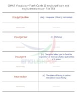 GMAT vocabulary flash cards354