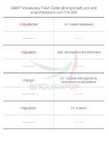 GMAT vocabulary flash cards326