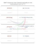 GMAT vocabulary flash cards171