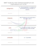 GMAT vocabulary flash cards41