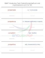 GMAT vocabulary flash cards120
