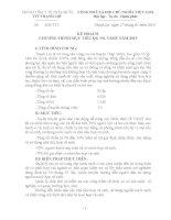 KẾ HOẠCH CHƯƠNG TRÌNH MỤC TIÊU QUỐC GIA NƯỚC SẠCH VỆ SINH MÔI TRƯỜNG