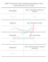 GMAT vocabulary flash cards350