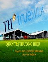 Quản trị thương hiệu th true milk