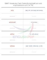GMAT vocabulary flash cards702