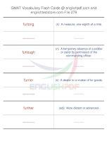 GMAT vocabulary flash cards279