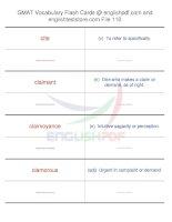 GMAT vocabulary flash cards110