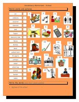 3772 vocabulary matching worksheet  school