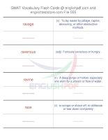 GMAT vocabulary flash cards555