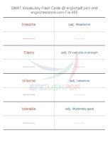 GMAT vocabulary flash cards655