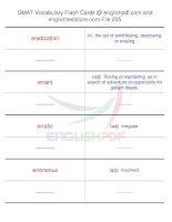 GMAT vocabulary flash cards235