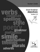 great grammar   adjectives