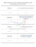 GMAT vocabulary flash cards345